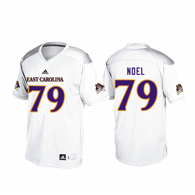 Men #79 Donovan Noel ECU Pirates College Football Jerseys Sale-White