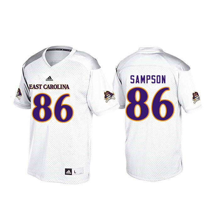 Men #86 Jaray Sampson ECU Pirates College Football Jerseys Sale-White