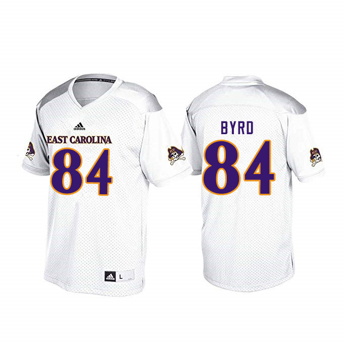 Men #84 Zech Byrd ECU Pirates College Football Jerseys Sale-White