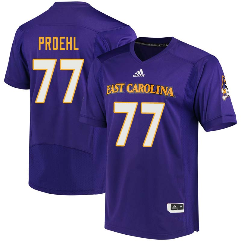 Men #77 Blake Proehl East Carolina Pirates College Football Jerseys Sale-Purple