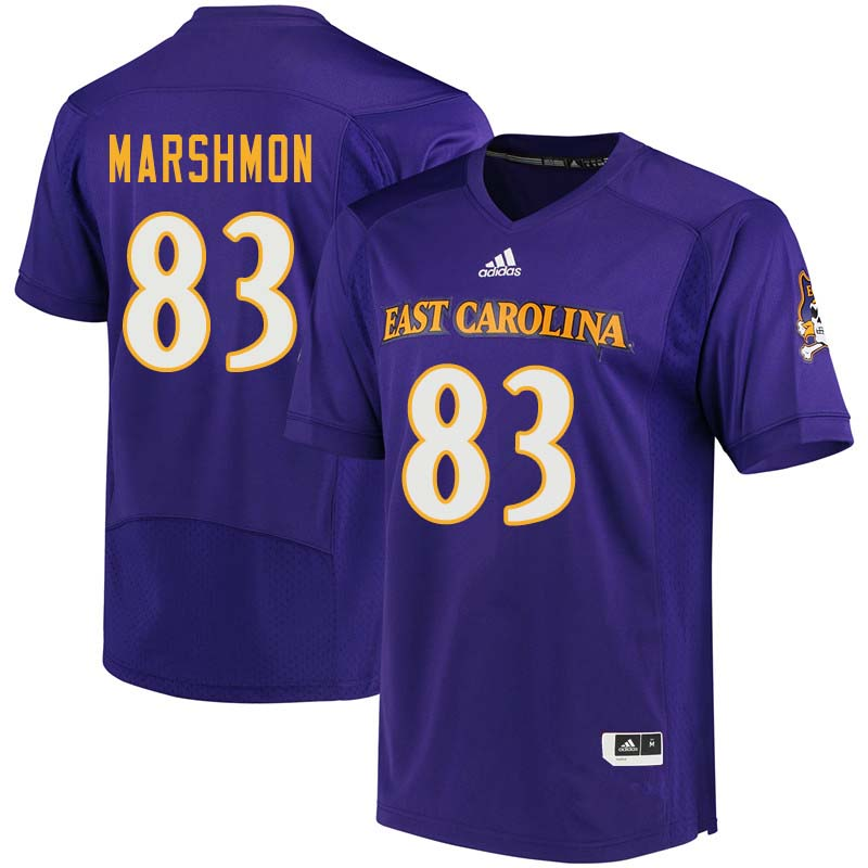 Men #83 Cam Marshmon East Carolina Pirates College Football Jerseys Sale-Purple