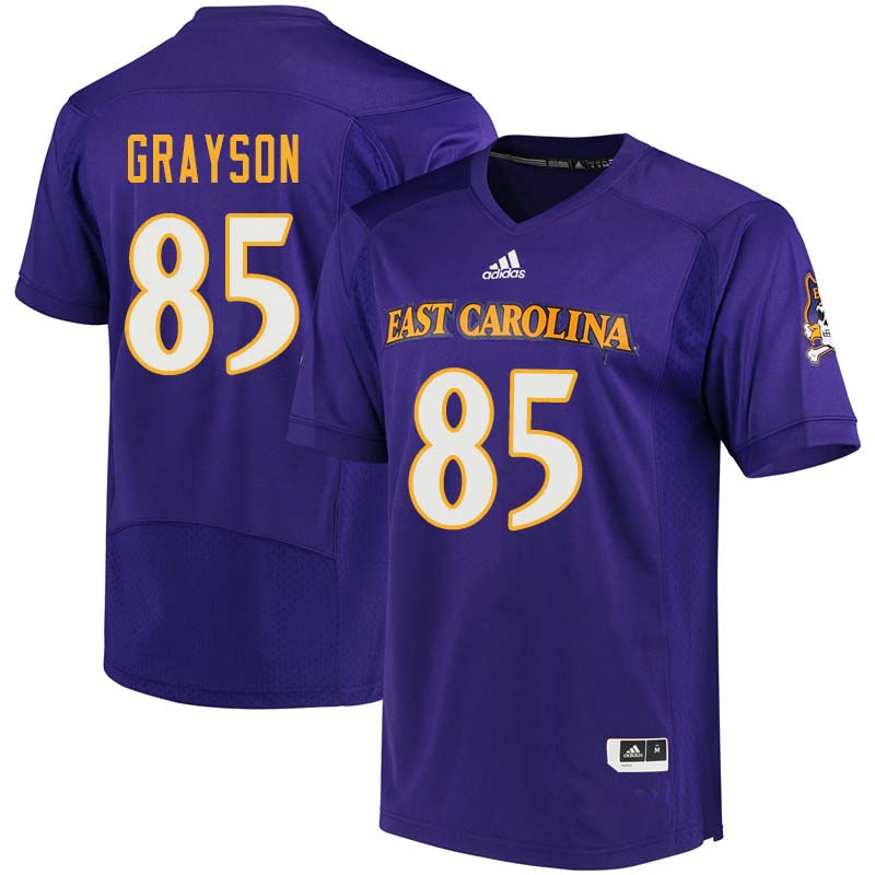Men #85 Davon Grayson East Carolina Pirates College Football Jerseys Sale-Purple