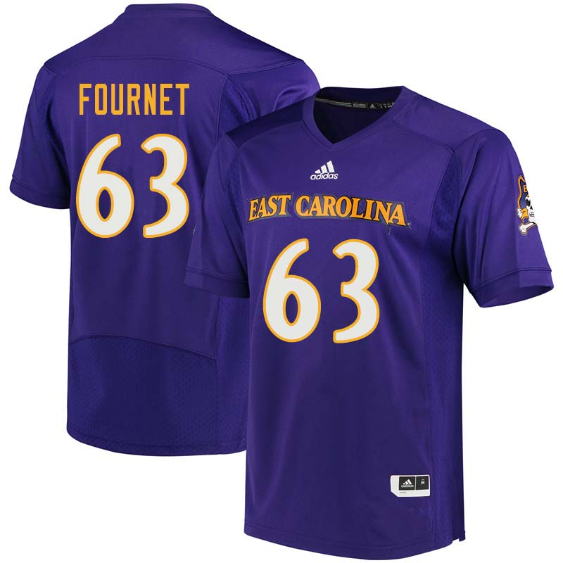 Men #63 Jaison Fournet East Carolina Pirates College Football Jerseys Sale-Purple