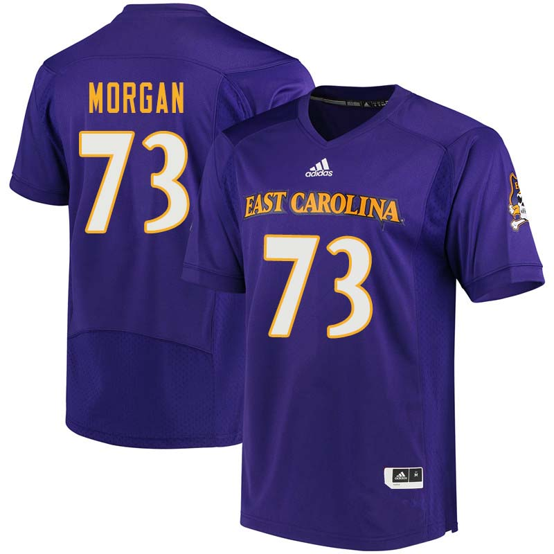 Men #73 Matt Morgan East Carolina Pirates College Football Jerseys Sale-Purple