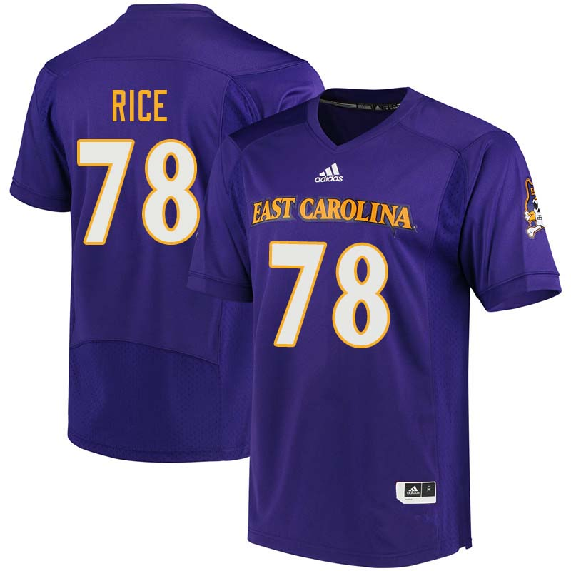Men #78 Messiah Rice East Carolina Pirates College Football Jerseys Sale-Purple
