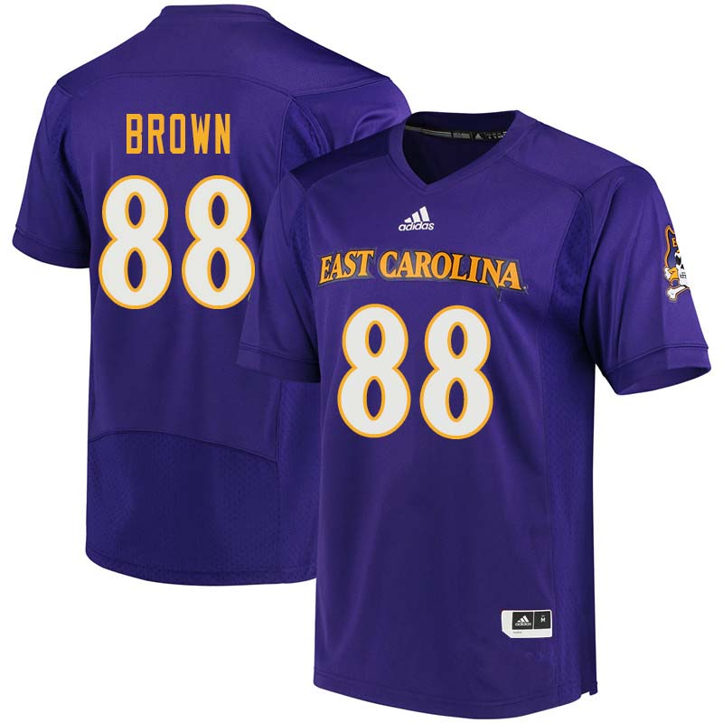 Men #88 Trevon Brown East Carolina Pirates College Football Jerseys Sale-Purple